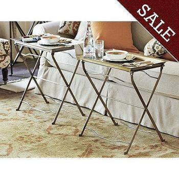 Set Of 2 Cafe Tray Table   Ballard Designs
