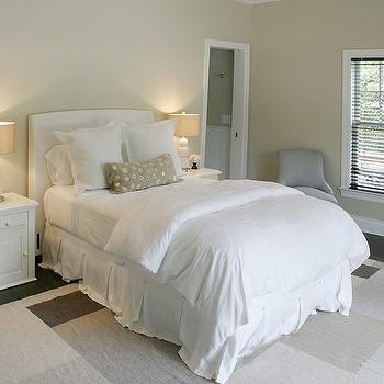 White Slipcovered Headboard, Transitional, bedroom, Elsa Soyars