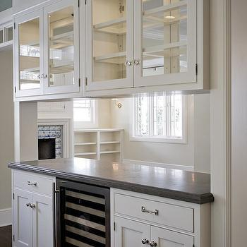 Glass Front Upper Cabinets, Traditional, kitchen, Cameo Homes