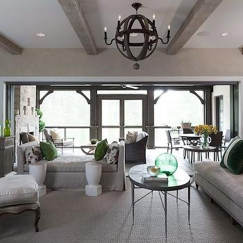 Gray and Green living Room, Contemporary, living room, Beckwith Interiors