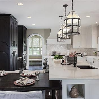 White and Black KItchen, Transitional, kitchen, Beckwith Interiors