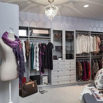 Walk-In Closet Design, Contemporary, closet, Beckwith Interiors