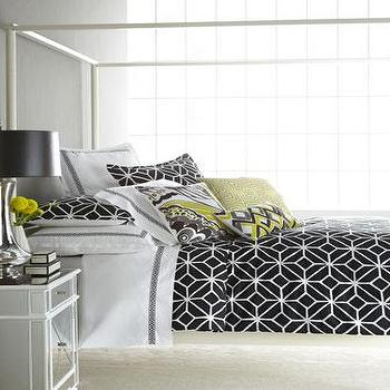 Black and White Trellis Bed Linens, Neiman Marcus
