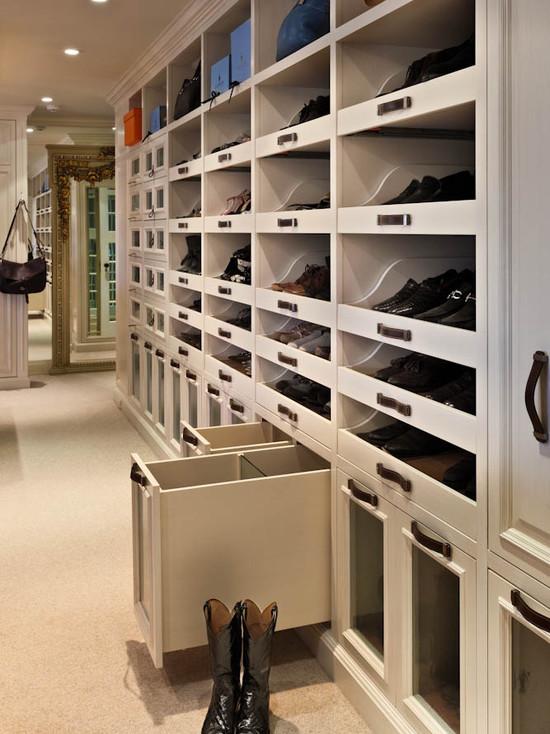 Closet Boot Racks Design Ideas