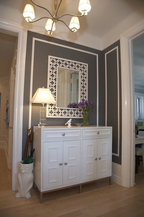 Gray Foyer Colors : Charcoal gray paint color contemporary entrance foyer