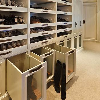 Boot Rack Ideas, Transitional, closet, Woodmeister Master Builders