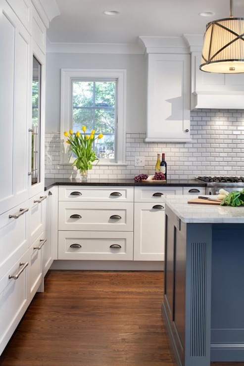 Oyster Gray Beveled Edge Subway Tile Design Ideas