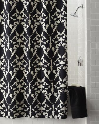 Black Rhinestone Shower Curtain