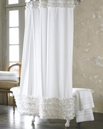 Ruffled Shower Curtain   Neiman Marcus
