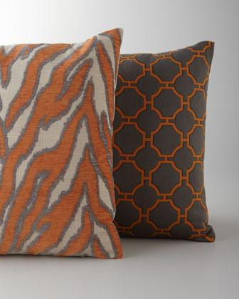 Patterned Pillows In Shades Of Orange Neiman Marcus