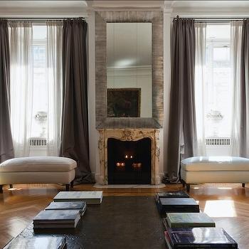 Gray Curtains, French, living room, Stefania Di Girolamo