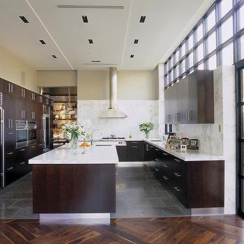 Modern Espresso Kitchen, Contemporary, kitchen, Jamie Herzlinger