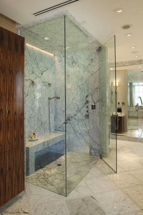 view full size. Stunning master bathroom with floor to ceiling frameless  glass ...