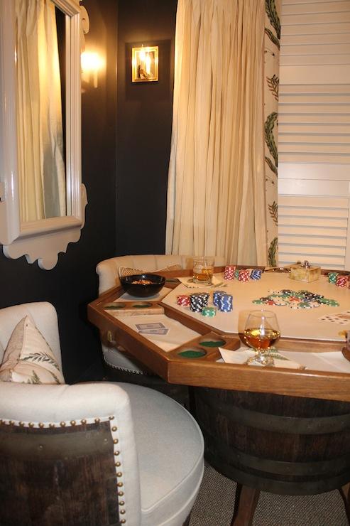 Poker Room Eclectic Media Room Benjamin Moore Panther Black Material Girls