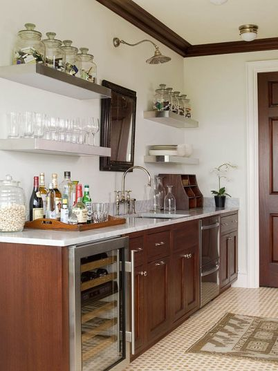 Cherry Kitchen Cabinets - Transitional - kitchen - Phoebe Howard