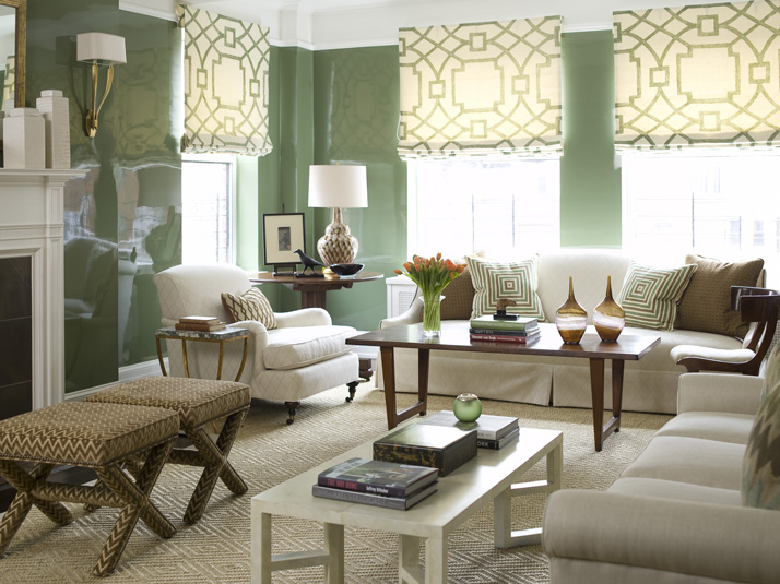 Green Living Rooms Transitional Living Room Phoebe