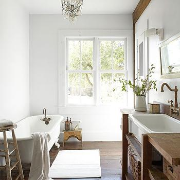 Salvaged Wood Washstand, Cottage, bathroom, Country Living