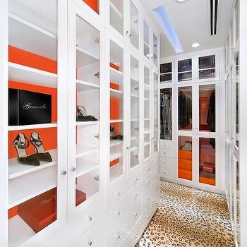 Leopard Rug, Contemporary, closet, Jamie Herzlinger