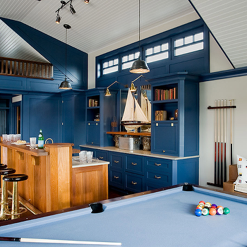 Attic Game Room, Cottage, media room, Ali Schwarz Design Group