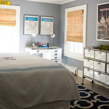 Blue Boy's Bedroom, Cottage, boy's room, At Home in Fairfield County