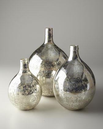Antiqued Mirror Glass Wine Spheres Neiman Marcus