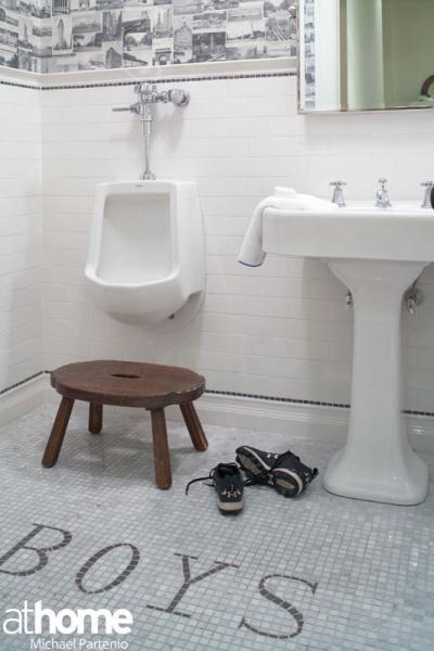 Vintage black and white bathroom floor design ideas - Photos of black and white bathrooms ...