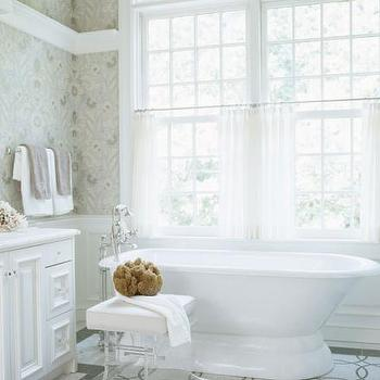 Lucite Stool, Transitional, bathroom, At Home in Fairfield County