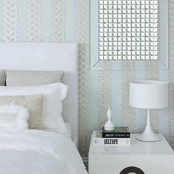 White and blue bedroom