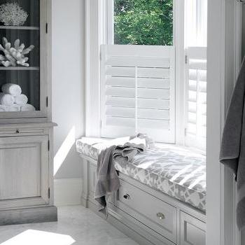 Bathroom Window Seat, Cottage, bathroom, At Home in Fairfield County