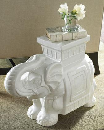 White Elephant Garden Stool