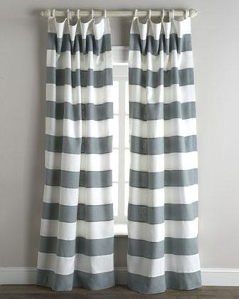 Stripe Curtains   Neiman Marcus  Grey Striped Curtains