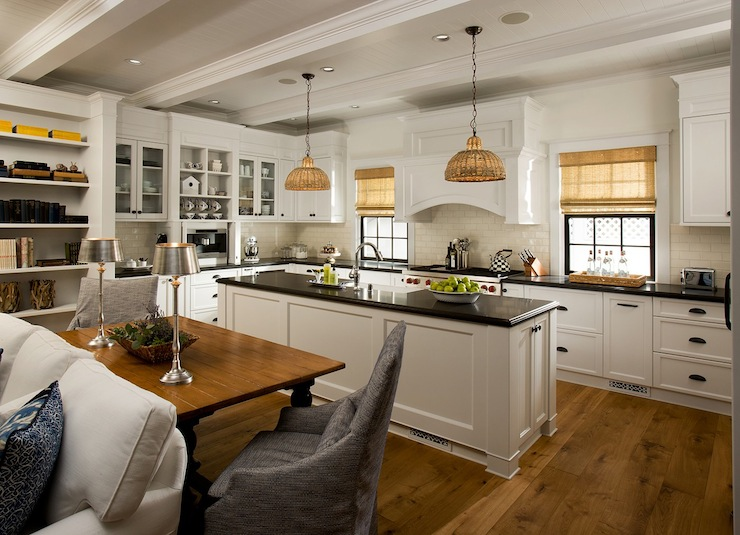 Open Floor Plan Kitchen Cottage Kitchen Vallone Design