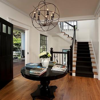 Iron Orb Chandelier , Cottage, entrance/foyer, Vallone Design