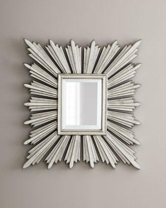 Silver Leafed Sunburst Mirror Neiman Marcus