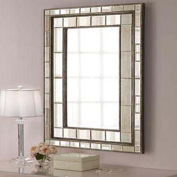 Geometrical Deco Shaped Beveled Mirror