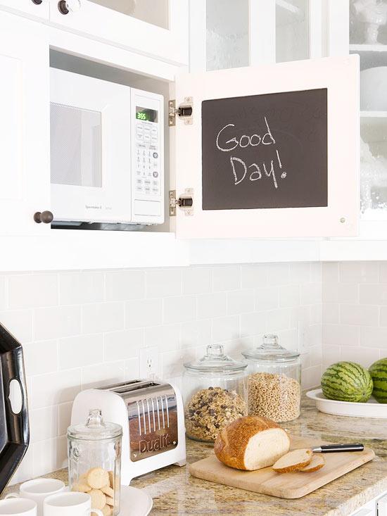 Hidden Microwave Transitional Kitchen Bhg