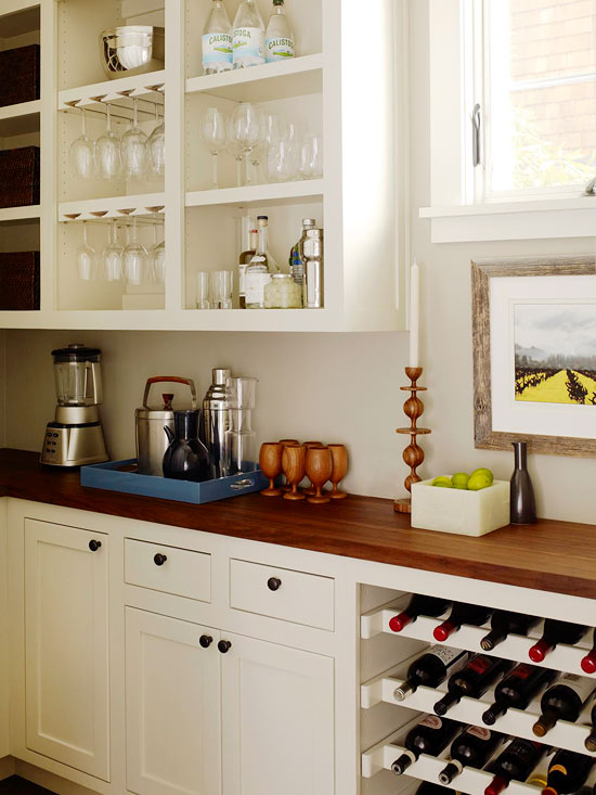 Built In Wine Rack Transitional Kitchen Bhg