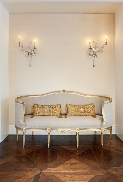 Jamie Foyers Traditional : French settee entrance foyer jamie herzlinger