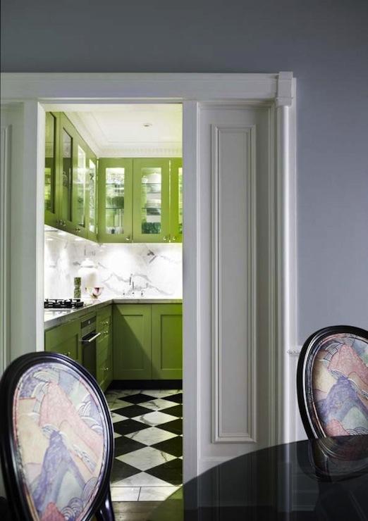 Green Kitchen Cabinets, Contemporary, kitchen, Greg Natale
