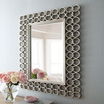 Small Teagan Circle Brown Link Mirror