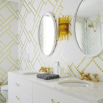 White and Yellow Bathroom, Contemporary, bathroom, Greg Natale