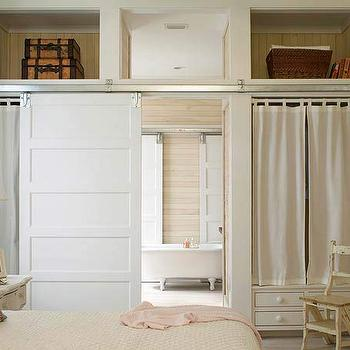 White Bathroom Door bathroom barn door design ideas