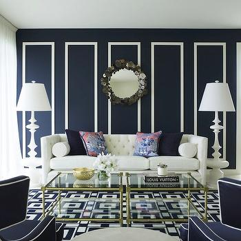 White and Blue living Room, Contemporary, living room, Greg Natale