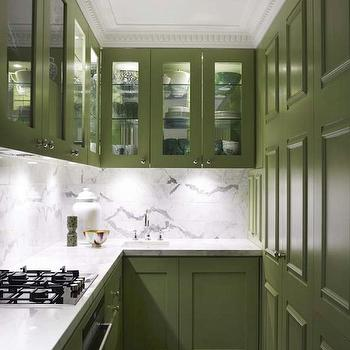 Green KItchen Cabinets, Contemporary, kitchen, Greg Natale