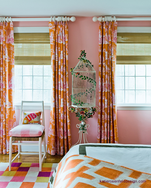 Curtains Ideas chinoiserie curtains : Tan And Orange Chinoiserie Powder Rooms Design Ideas