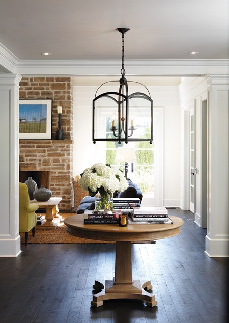 Foyer Light Over Table : Light oak hardwood floors design ideas