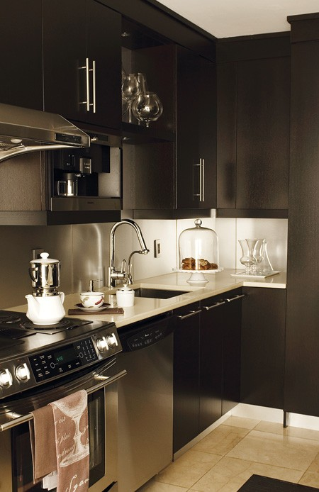 Black Kitchen Cabinets  Contemporary  kitchen  House & Home
