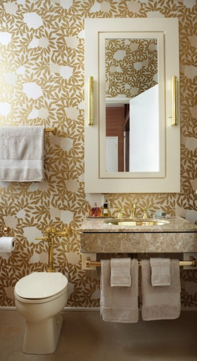 Gold Bathroom Contemporary Bathroom Jessica Lagrange