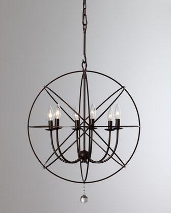 Wrought iron sphere chandelier neiman marcus