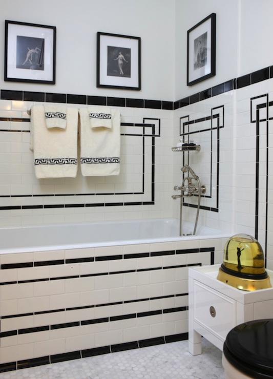 Art deco bathroom french bathroom jessica lagrange for Small art deco bathroom ideas